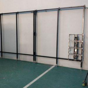 Estructura para modulación led a pared